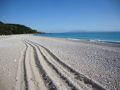Livadi beach, Himara village, South Albania — Stock Photo