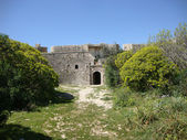 Historical fort of Ali Pasha at palermo, Himara village, South Albania — Stock Photo
