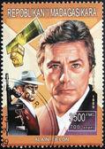 Alain Delon Stamp — Stock Photo