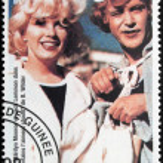 Постер, плакат: Marilyn Monroe Guinea Stamp