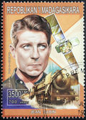 Jean Gabin Stamp — Stock Photo