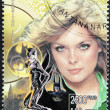 Michelle Pfeiffer Stamp - 图库照片