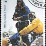 Mont Everest Stamp — Stock Photo