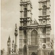 Westminster Abbey Postcard — Stock Photo