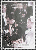 Grace Kelly and Prince Rainier III — Stock Photo