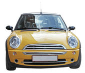 Mini Yellow Car — Stock Photo