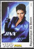 Halle Berry Stamp — Stock Photo