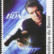Pierce Brosnan Stamp — Stock Photo