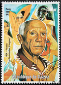 Pablo Picasso Stamp — Stock Photo