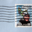 Eddie Rickenbacker Stamp - Stock Photo