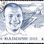 Постер, плакат: Gagarin Soviet Stamp