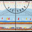 Two Sydney Stamps — Foto Stock