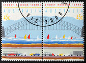 Two Sydney Stamps — Stock Photo