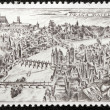 Old Prague Stamp — Stock Photo