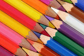Prokládaný pastelky — Stock fotografie