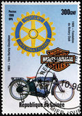 Old Motorcycle Stamp — Stock Photo