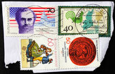 Four German Stamps — Stock Photo