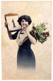 Vintage Postcard — Stock Photo