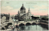 Berlin Cathedral Postcard — Stock Photo