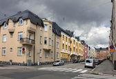 Helsinki, ulica huvilakatu — Zdjęcie stockowe