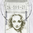 Stock Photo: Marlene Dietrich Postage Stamp