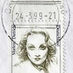 Постер, плакат: Marlene Dietrich Postage Stamp