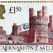 Caernarfon Castle Stamp — Stock Photo #19943299