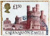 Caernarfon Castle Stamp — Stock Photo