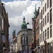 Nygade Street in Copenhagen — Stock Photo