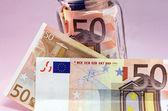 A few of Euro bank notes. — Stock Photo
