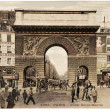 Paris. Porte Saint-Martin. — Stock Photo