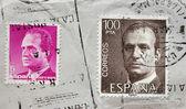 King Juan Carlos Stamps — Stock Photo
