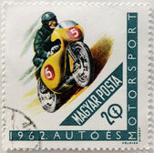 Motor-sport stamp — Stock Photo