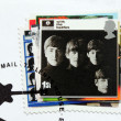 Постер, плакат: With the Beatles stamp