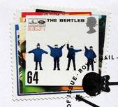 """Beatles Album """"Help!"""" Stamp. — Stock Photo"""
