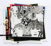 "Beatles Album ""Revolver"" Stamp — Stock Photo"