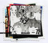 """Beatles Album """"Revolver"""" Stamp — Stock Photo"""