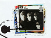 """""""With the Beatles"""" stamp. — Stock Photo"""