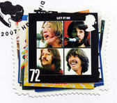 "Beatles Album ""Let It Be"" Stamp — Stock Photo"