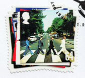 "Beatles Album ""Abbey Road"" Stamp — 图库照片"