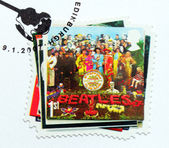 "Beatles Album ""Sgt. Pepper's..."" Stamp. — Stock Photo"