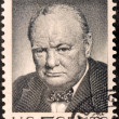 Churchill US Stamp — Stock Photo