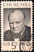 Churchill US Stamp — Stock Photo