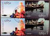 Finnish Vacation Stamps — Stock Photo