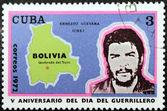 Ernesto Guevara Stamp 1972 — Stock Photo
