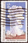 Yellowstone Stamp — Stock Photo