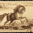 Goltzius Engraving Stamp — Stock Photo