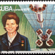 Valentina Tereshkova Stamp — Stock Photo