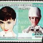 Audrey Hepburn Stamp — Stock Photo