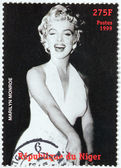 Marilyn Monroe - Niger Stamp 3 — Stock Photo